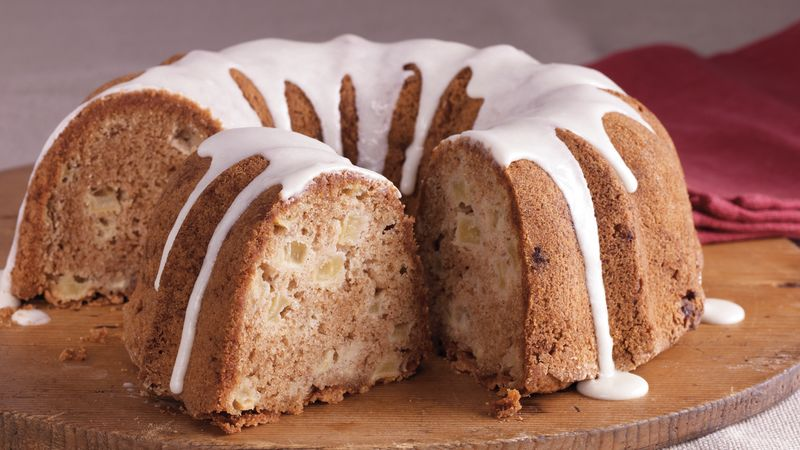 Spiced Apple Cake with Maple Glaze
