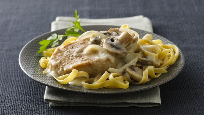 Pork Chops in Savory Mushroom Cream Sauce