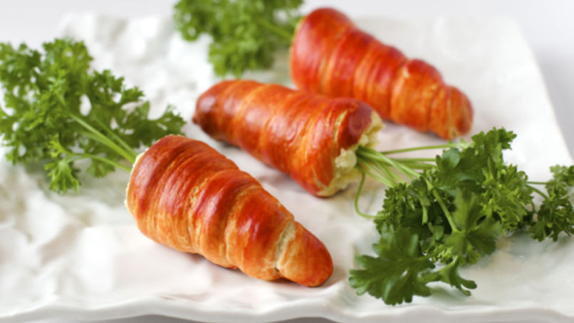 Stuffed Crescent Carrots