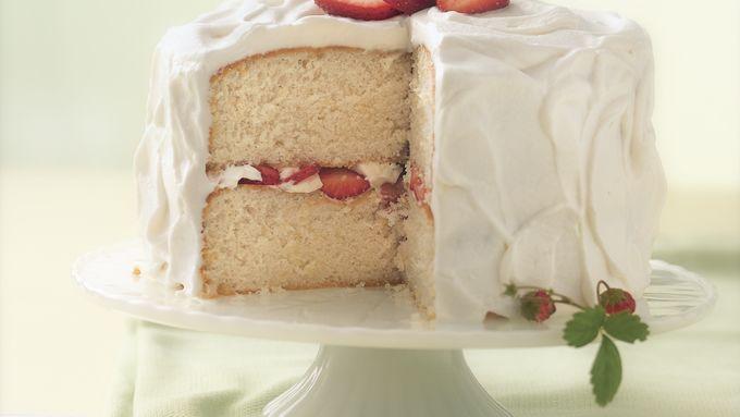 Strawberry-Amaretto Cake