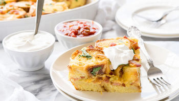 Bacon and Cheese French Toast Bake