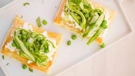 Mushroom-Crab-Asparagus Tart Recipe - Tablespoon.com