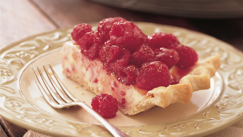 White Chocolate Mousse Raspberry Pie