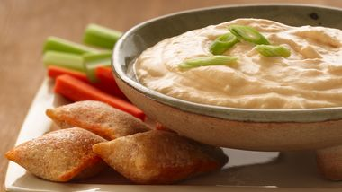 Buffalo Cheese Dip and Pizza Rolls®