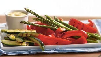 Grilled Veggie Platter with Ginger-Mustard Dip