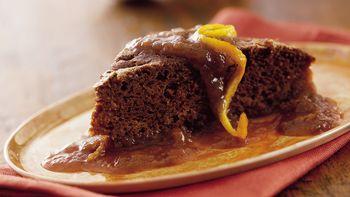 Gingerbread Orange Pudding Cake