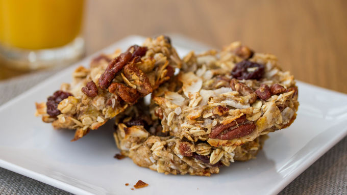 Gluten-Free Banana, Coconut and Dried Cherry Breakfast Cookies