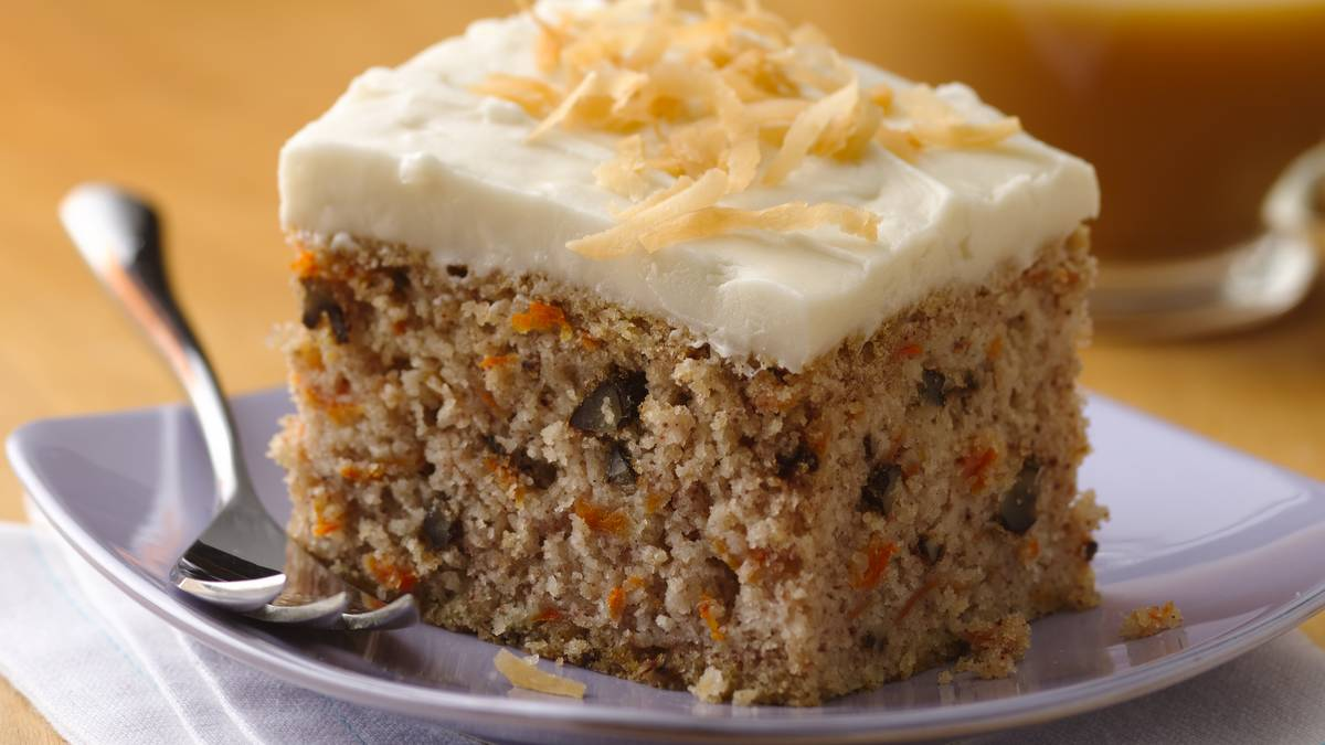 Homemade Carrot Cake Without Nuts Or Raisins