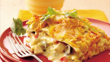 Mexican Chicken-Sour Cream Lasagna