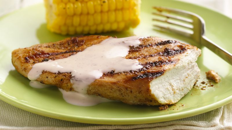 Grilled Smoky Chicken Breasts with Alabama White Barbecue Sauce