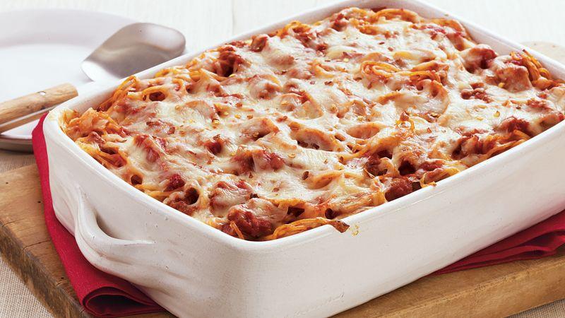 Pizza-Baked Spaghetti