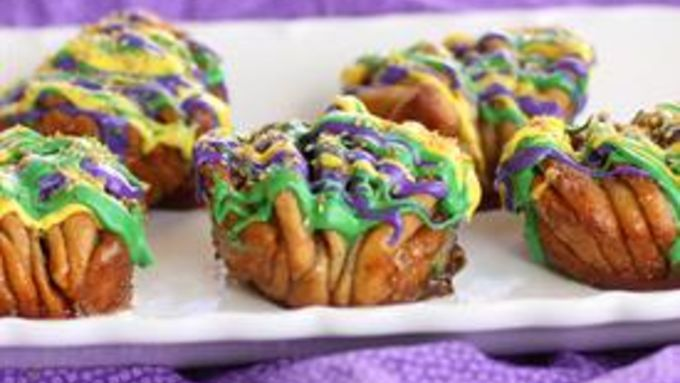 King Cake Pull-Apart Muffins