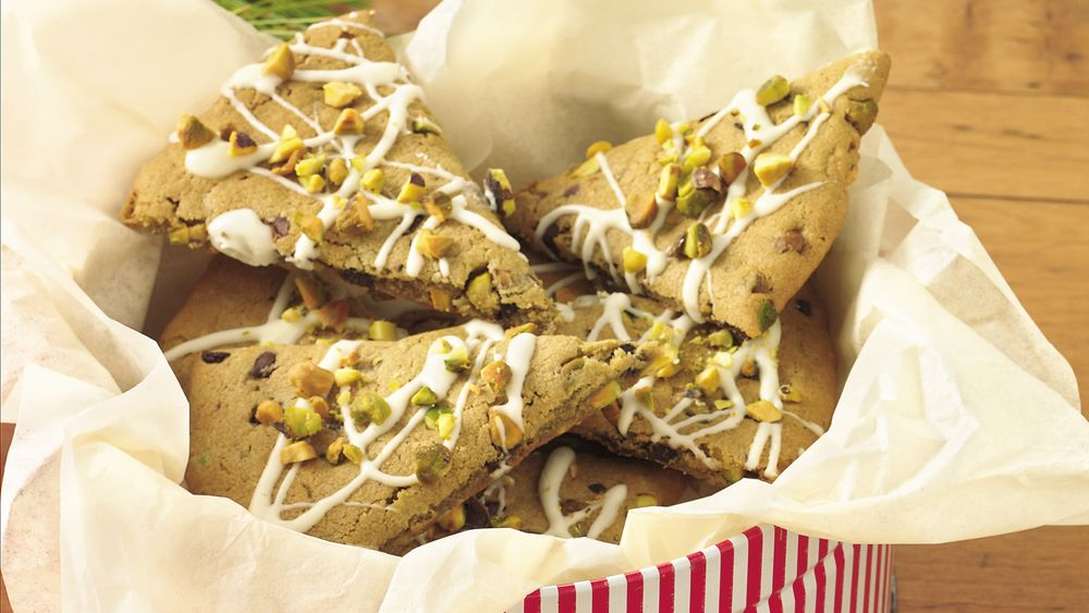 Chocolate-Pistachio Wedges