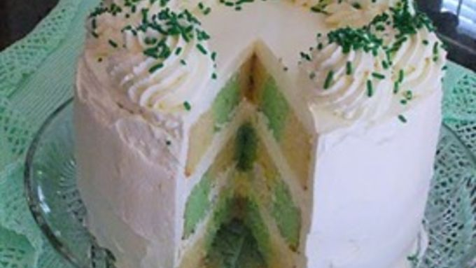 Tis A Touch Of The Irish Checkerboard Cake