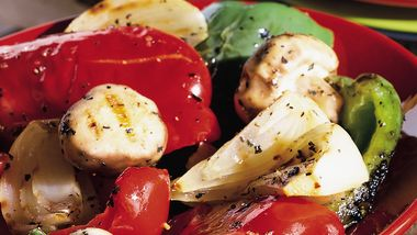 Grilled Bell Peppers, Onion and Mushrooms