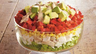 Southwest Layered Chicken Salad