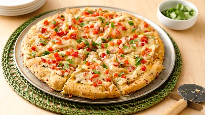 Impossibly Easy Chipotle Ranch Chicken Pizza