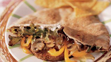 Veggie Burger Pitas