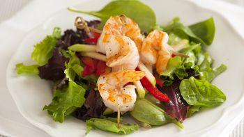 Sesame Shrimp and Apple Salad