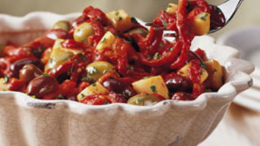 Citrus Herb Peppers, Olives and Cheese