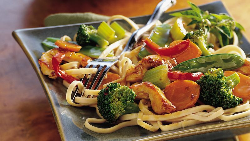 Asian Chicken and Noodles