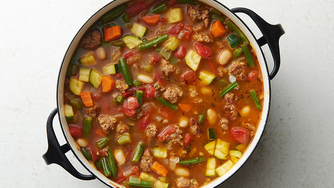 Spicy Italian Sausage and Vegetable Soup