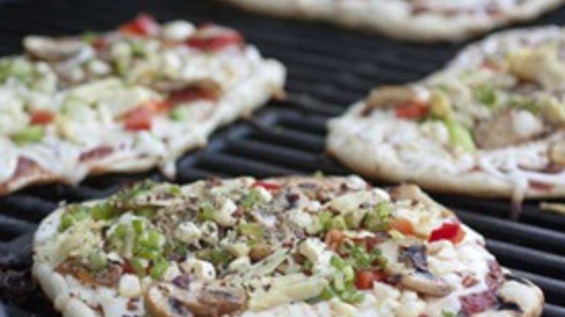 Mini Grilled Pizzas