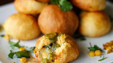 Cheese Balls with Poblano and Corn