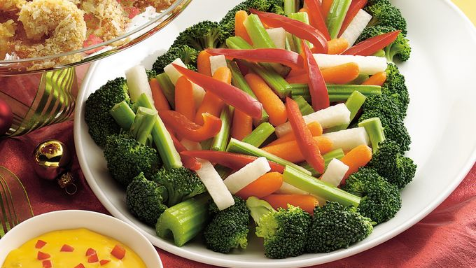 Vegetable Tree With Nacho Cheese Dip Recipe