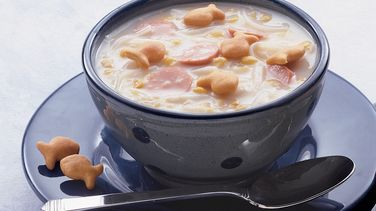 Creamy Corn and Hot Dog Chowder