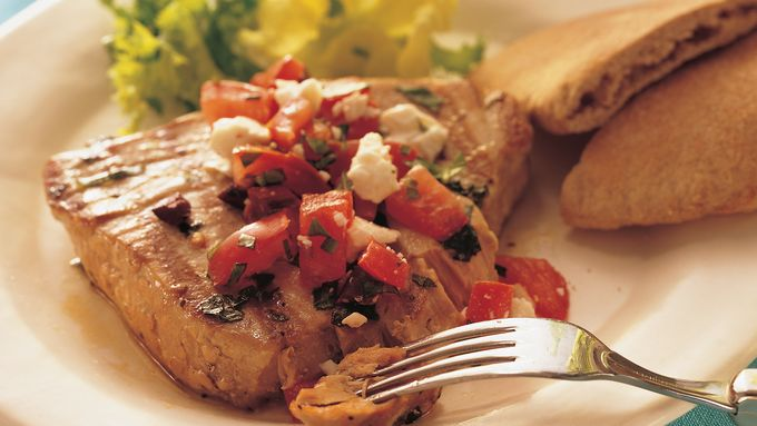 Grilled Mediterranean Tuna Steaks