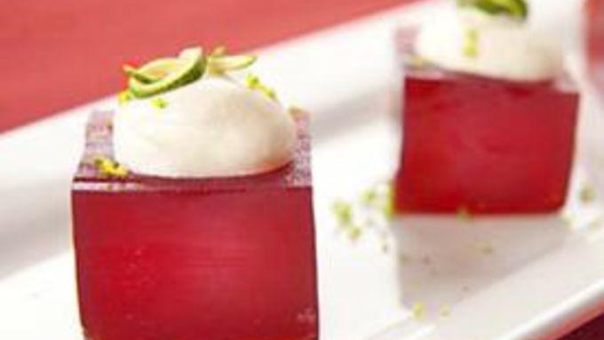 Pomegranate Margarita Jello Shots