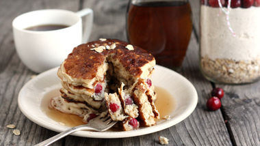 Cranberry Oatmeal Cookie Layered Pancake Jars