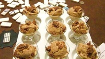 Pumpkin Pie Ice Cream with Pecan Crumble Topping