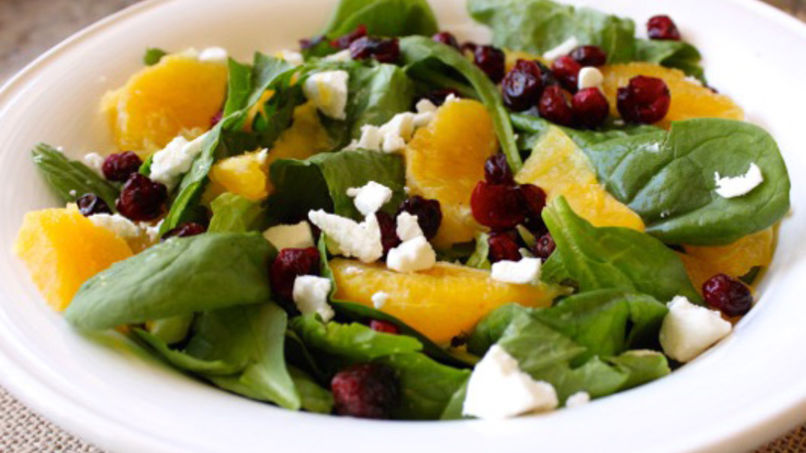 Cranberry, Orange and Goat Cheese Seasonal Salad