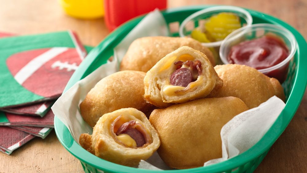Bacon and Cheese Crescent Dogs recipe from Pillsbury.com