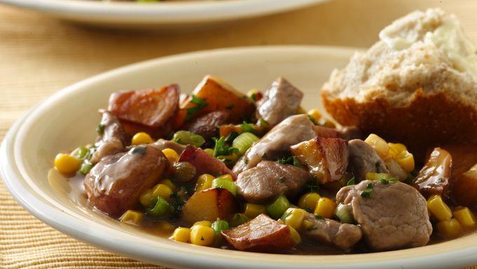 Pork and Corn Hash
