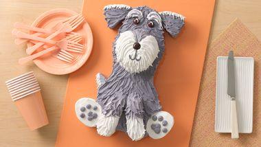 Schnauzer Dog Cake