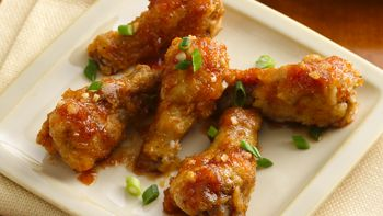 Sticky Ginger Garlic Chicken Wings