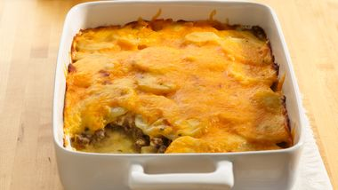 Potato and Ground Beef Gratin