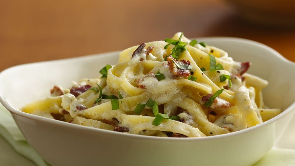 Fettuccine with Two Cheeses