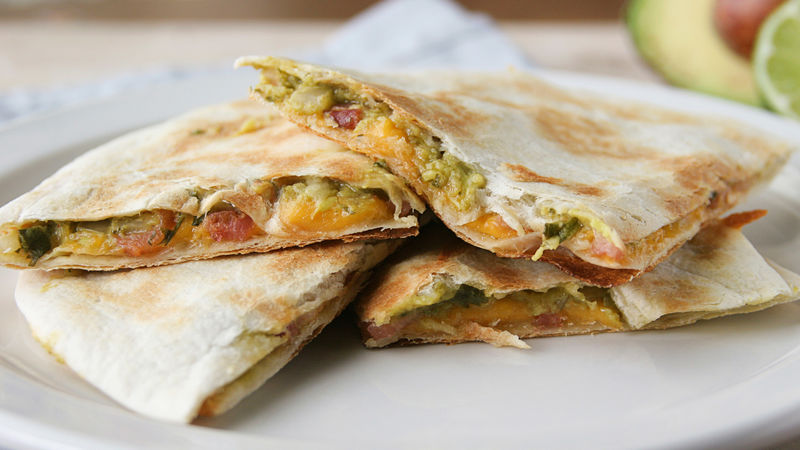 Bacon-Guacamole Quesadillas recipe from Betty Crocker