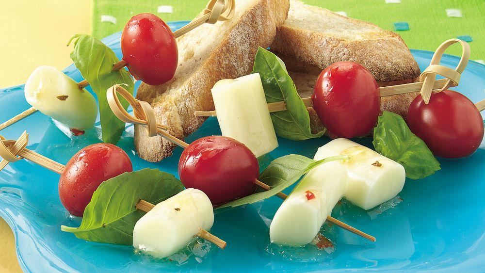 Tomato, Basil and Cheese Sticks