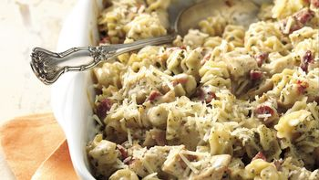 Creamy Pesto-Chicken Casserole