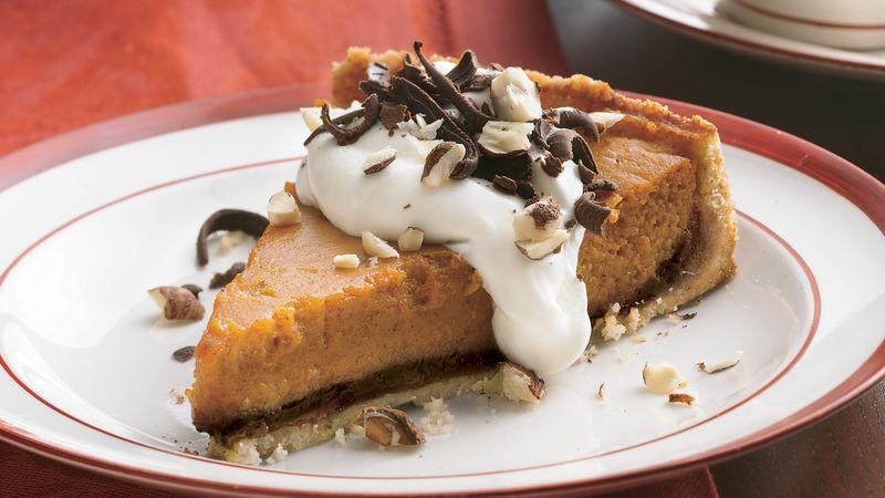 Chocolate-Hazelnut-Pumpkin Tart