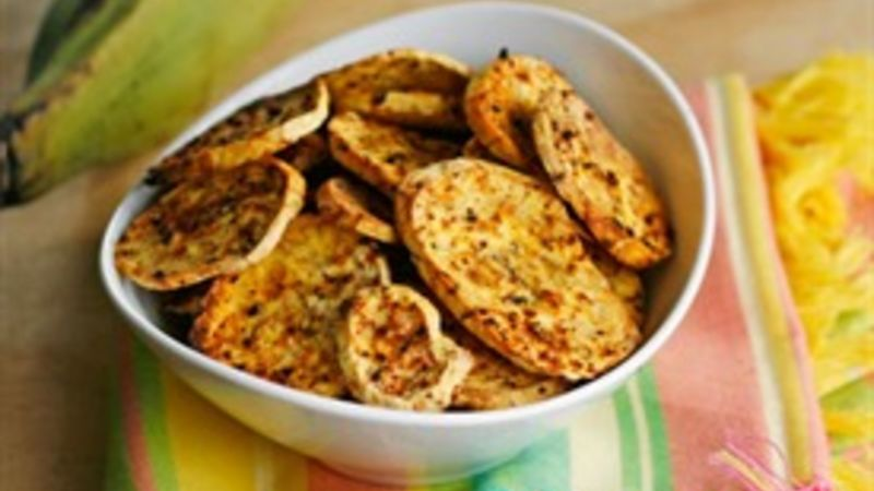 Baked Barbecue Plantain Chips