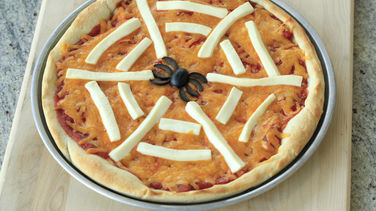 Unscary Spiderweb Pizza