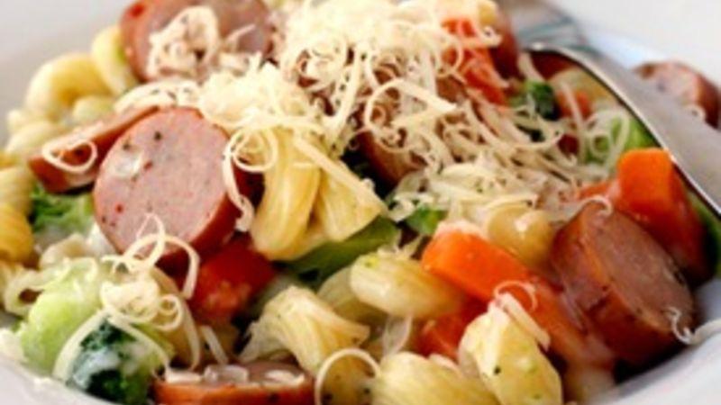 Super Quick Sausage Pasta