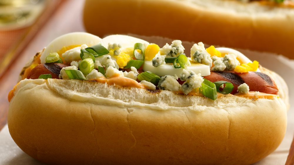Blue Cheese Deviled Dogs