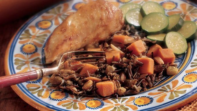 Chicken and Rice Pilaf with Yams